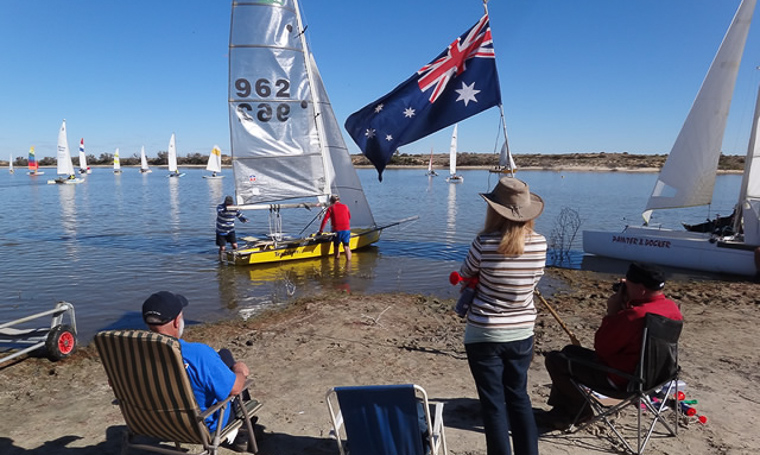 Lake Eyre Yacht Club Members are gearing up for their first year on the lake since 2011.